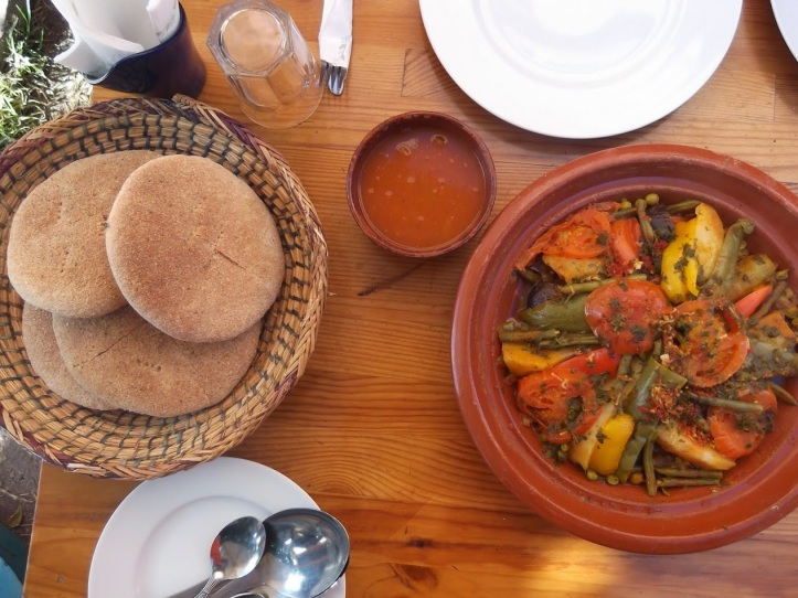 Vegetable Tajine and Moroccan Bread