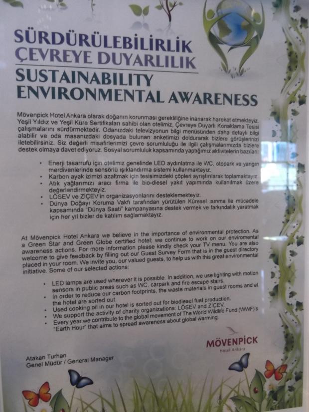Movenpick Ankara's Green Hotel Features
