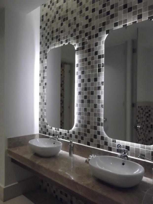 Water-saving fixtures and efficient plumbing